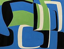 Jean Dewasne / Composition abstraite / Gouache / 1950 / 49 x 56 cm / Podgorny Robinson Gallery