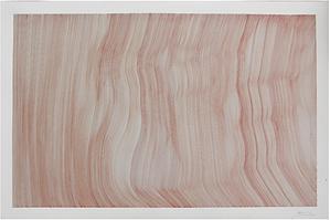 John Franzen / Each Line One Breath / 120 x 80 cm / Blood on 650 gr paper