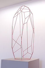 Arik Levy / AbstractStone 150 / 150 x 51 x 51 cm / Copper wire & red paint /  *©ArikLevy / Courtesy PodgornyRobinson Gallery