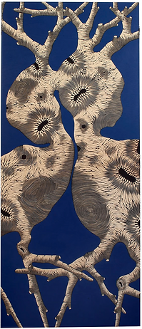 Zoe Ouvrier / Blue Painting / 211 x 94 cm  *©ZoeOuvrier / Courtesy PR Gallery