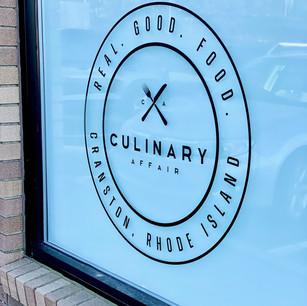 Culinary Affair Window Logo