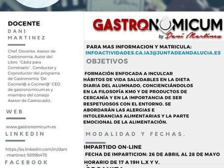 Curso sobre Gastronomía Saludable y Productos km0 para Jóvenes.