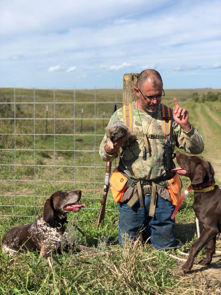 Grouse hunting - Dakota and Coco