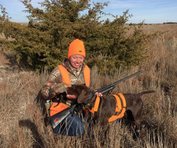 Jen's first quail-great work by Anna