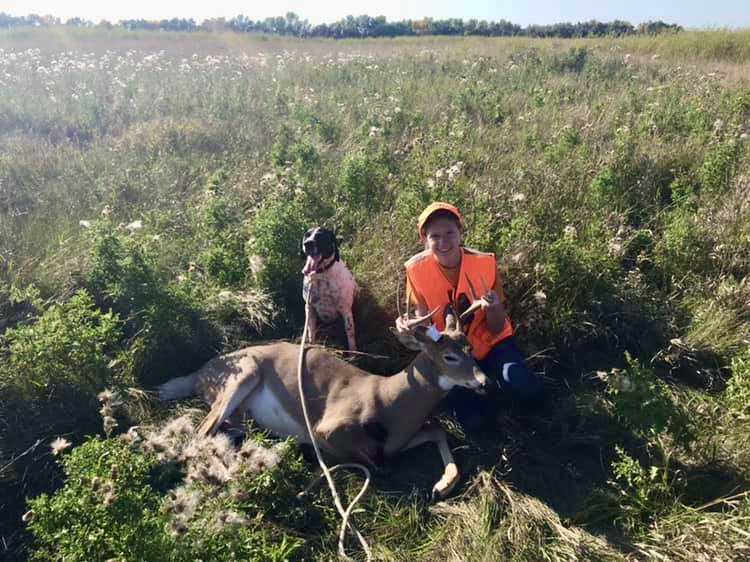 Beulah with successful deer recovery