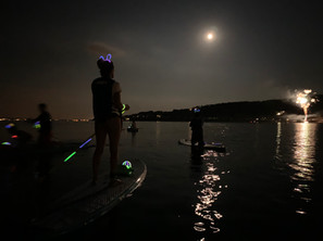 Full moon & fire works Sup Tour