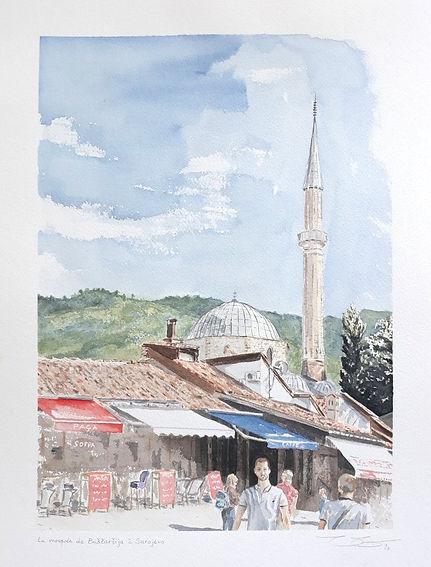 Valentine_Vilemot,_Mosquée_à_Sarajevo,