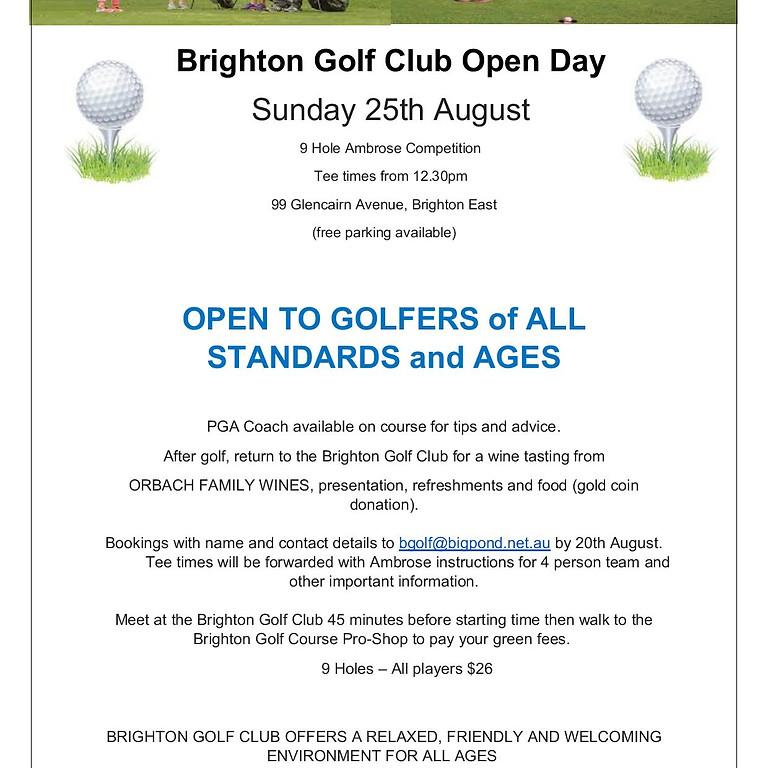 Brighton Golf Club Golf Open Day