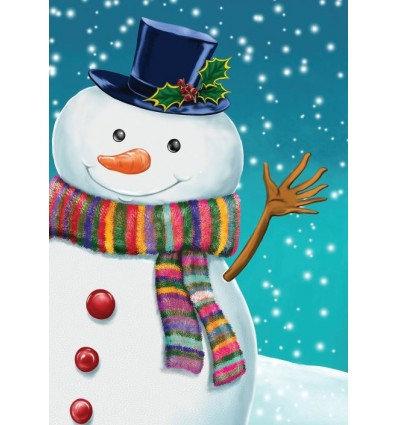 wuivende sneeuwman