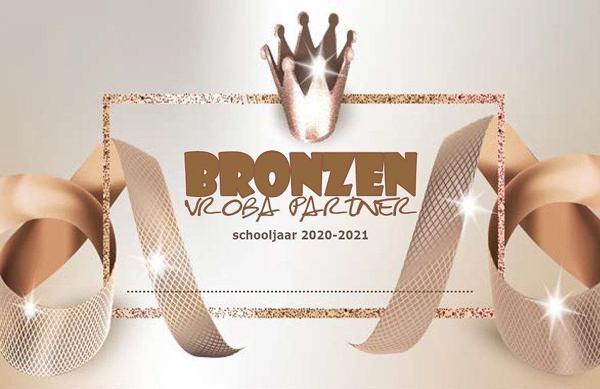 Bronzen VROBA Partner - schooljaar 2020-2021