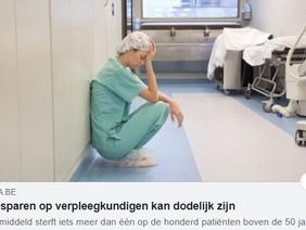 Besparen op verpleegkundigen kan dodelijk zijn