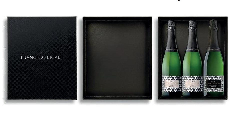 GIFTBOX CAVA FRANCESC RICART 3 flessen