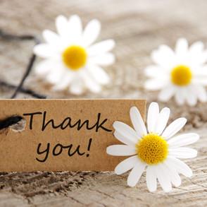 Wij willen u bedanken!