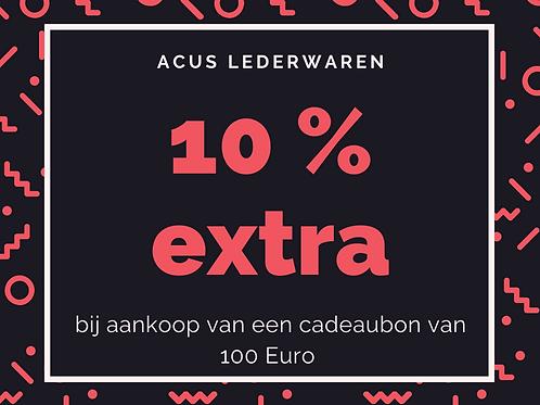 ACUS lederwaren - waardebon 100 Euro + 10% gratis