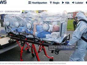 VRT gebruikt een oude archief foto van oefening militair hospitaal