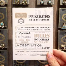Inauguration - Concept Store @ 34 rue St-Paul Ouest - Vieux-Montréal