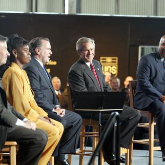 Hosting President Bush at UPS