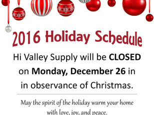 Closed Monday, Dec. 26