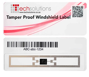 Tamper Proof Windshield RFID Barcode Label