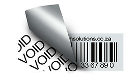 Void non-tear barcode label