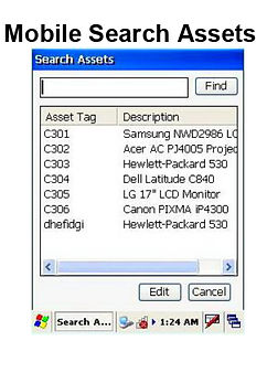 Mobile RFID Scanner Search Assets