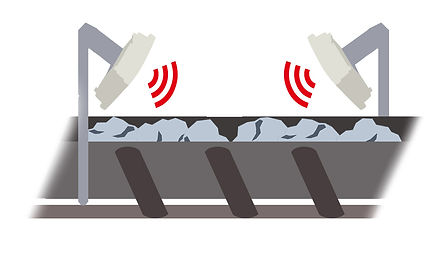 RFID Scanners Attached To Ore Flow Conveyors