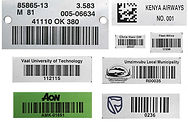 Aluminium Barcode Labels