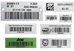 Aluminium Barcode Label