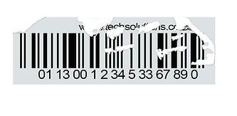 Non-Destruct Destruct Barcode Label