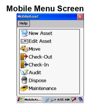 Mobile Scanner Menu Screen