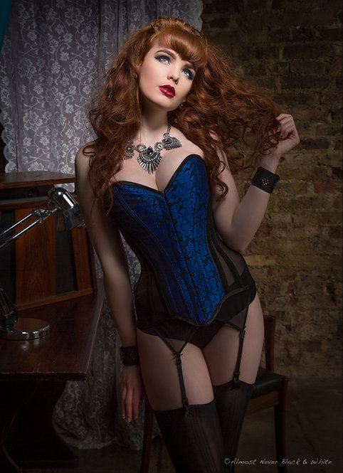 Deadly Blue Overbust Corset