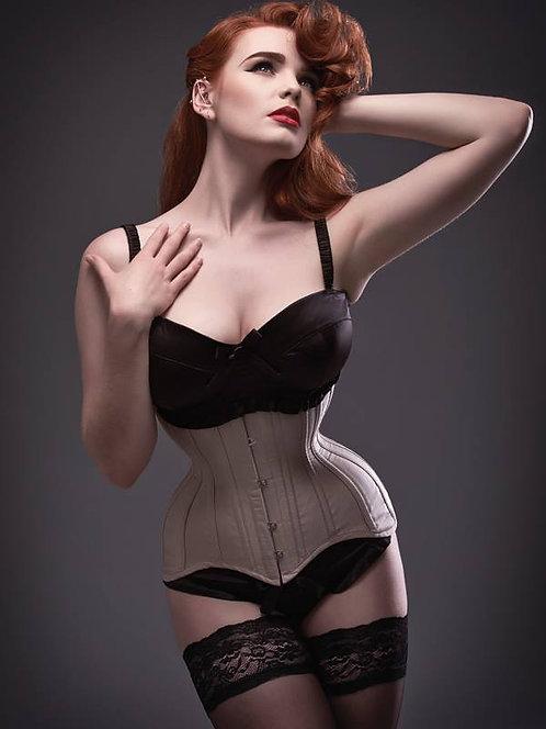 Nude Silk Longline Waist Trainer