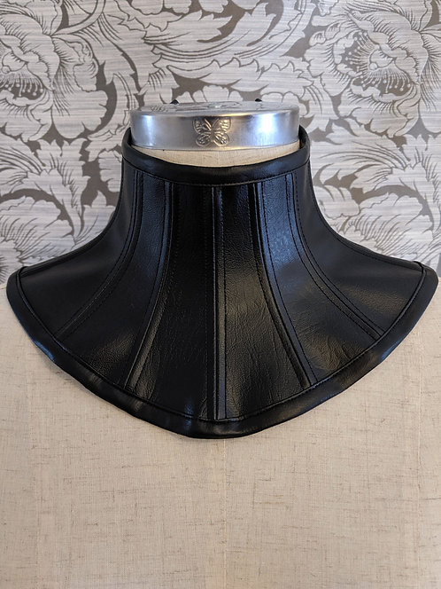 Faux Leather Posture Collar