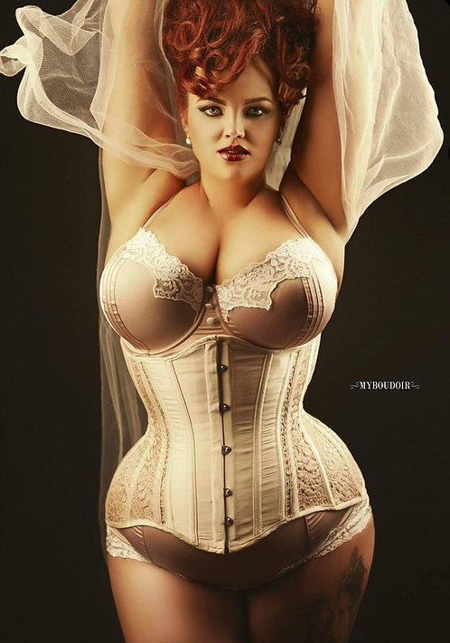 Blush Sheer Lace Bellecurve Waist Trainer