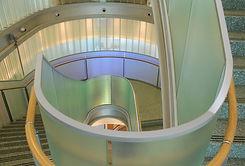 CUNY-Bendheim-dichroic-glass-stair-raili