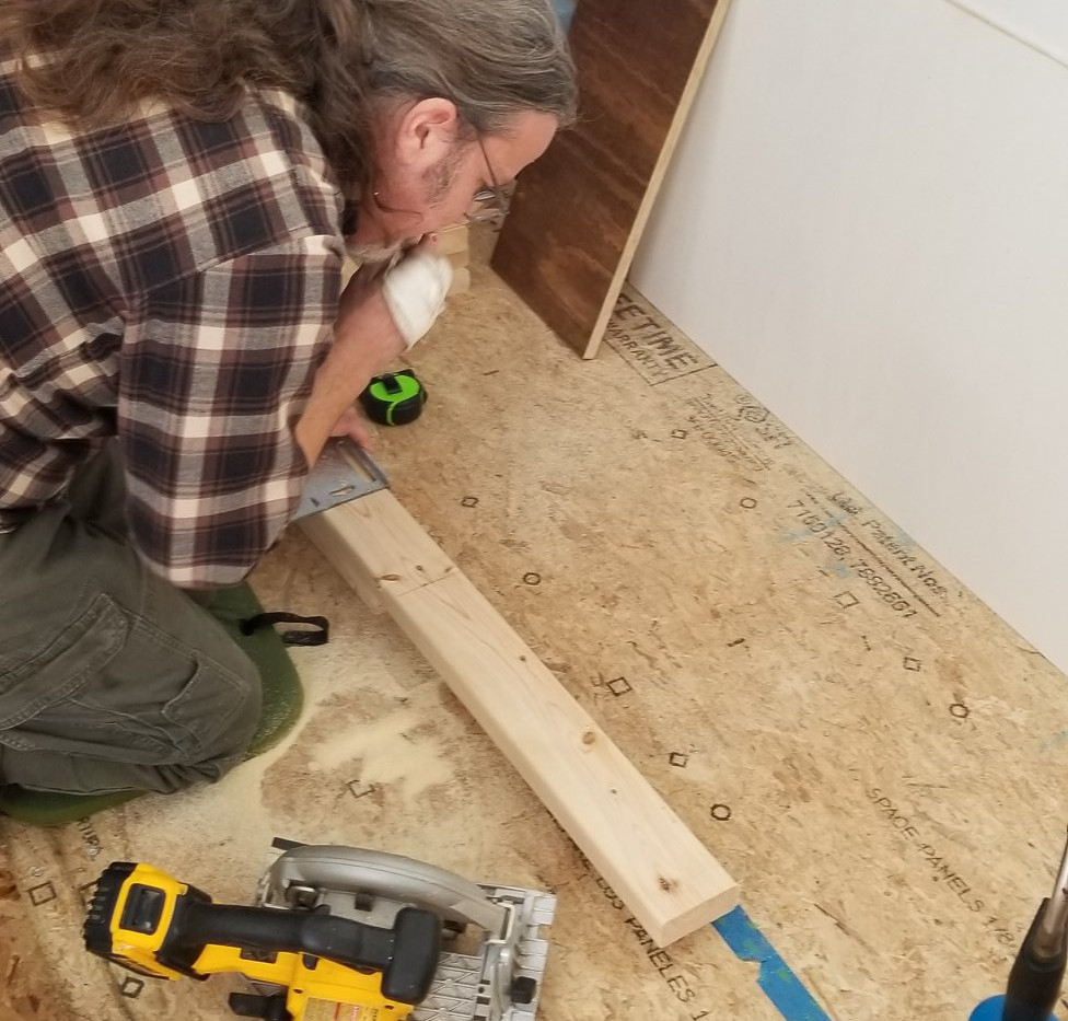 Figuring out where to line up stove housing unit