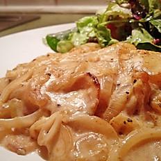 156 - Onion Mushroom Schnitzel Dinner