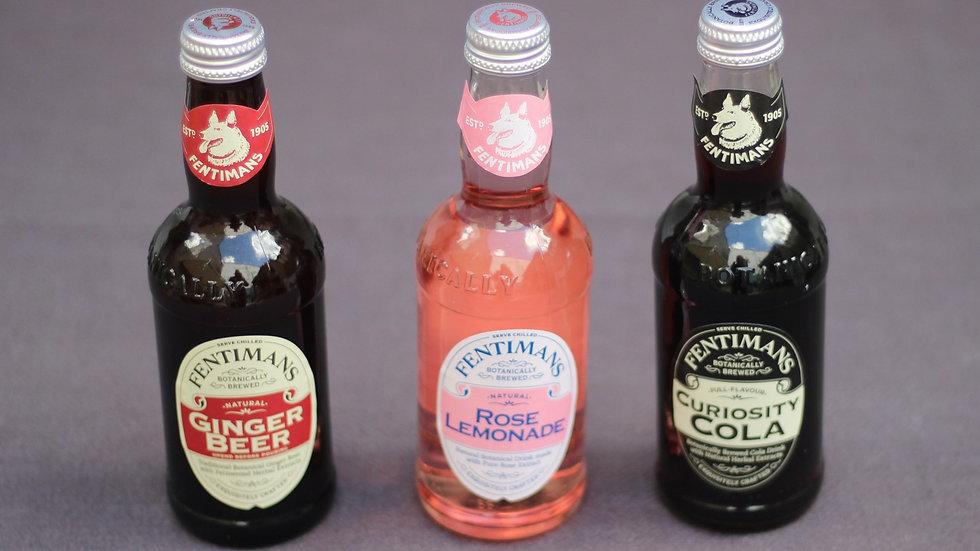 Fentiman's cola, rose lemonade or ginger beer
