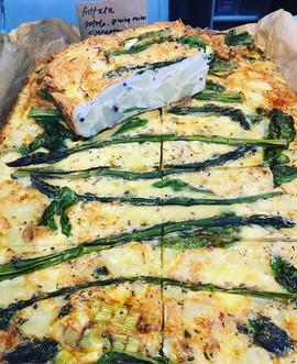 Cornish asparagus frittata fresh on the