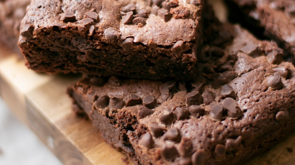 double-chocolate brownie (GF)