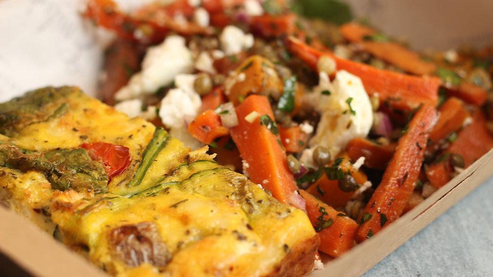 Frittata with super-salad