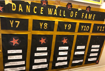 Dance wall of fame