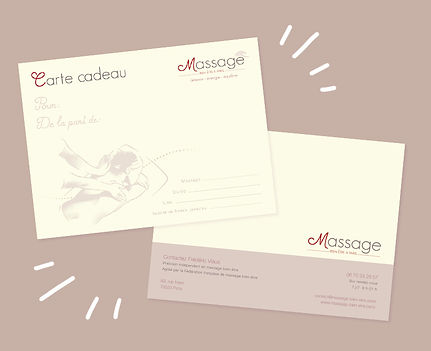 Carte cadeau massage à Paris