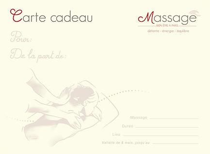 Carte cadeau massage à Paris