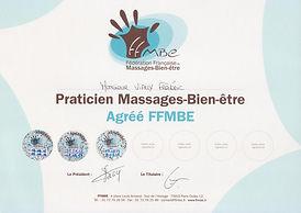 Praticien massages bien-être, agréé FFMBE, Paris