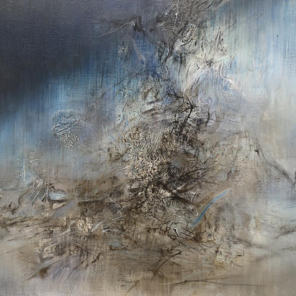 Peinture : Zao Wou-Ki, 18.10.59 - 15.02.60, détail (Centre Pompidou Paris)