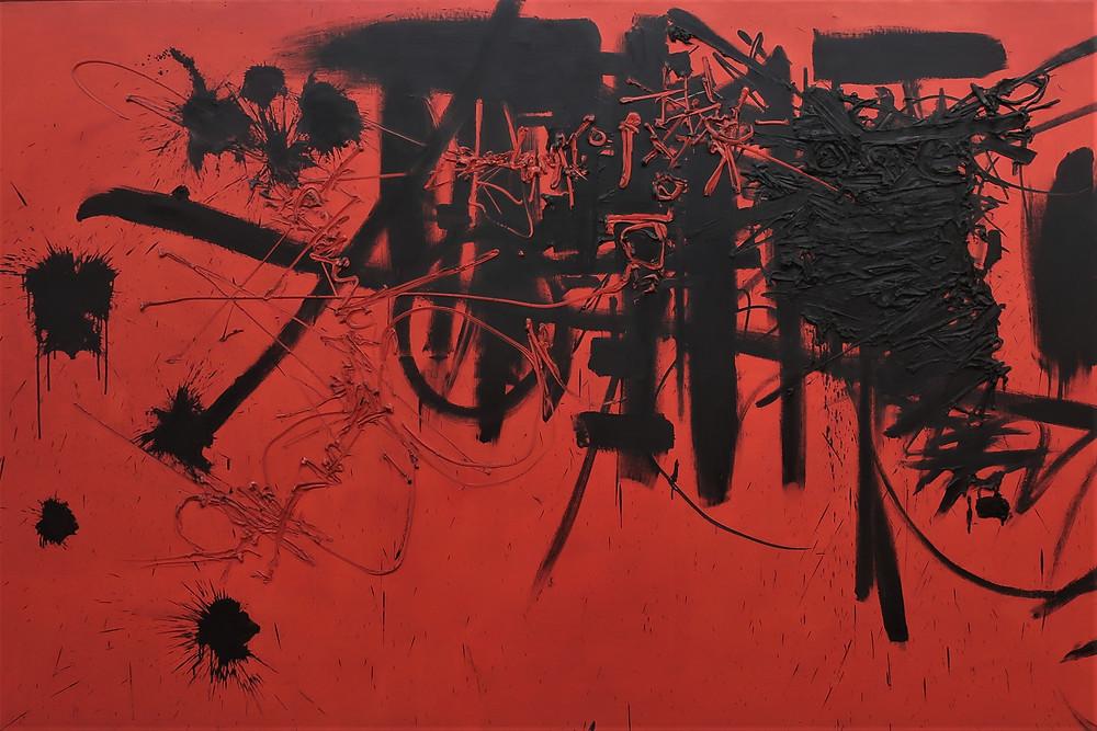 Peinture : Georges Mathieu, Hommage au maréchal de Turenne, détail (Centre Pompidou Paris)