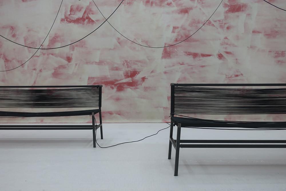 Installation : Parler de loin ou bien se taire, Anne le Troter, 2019 (Centre Pompidou Paris)
