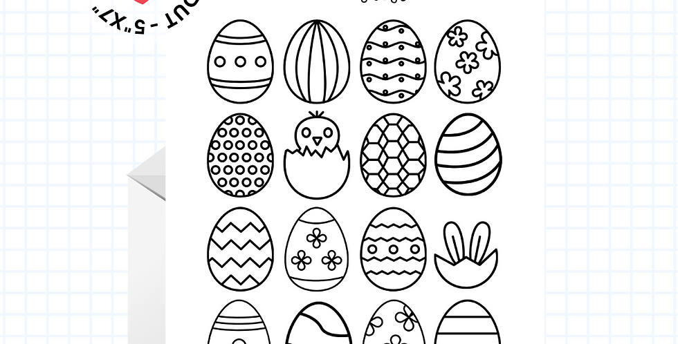 Coloring Card • Fun Easter • Greeting Card