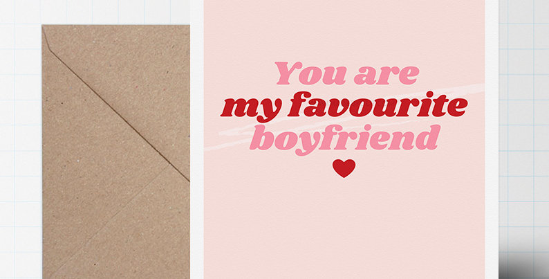 Greeting Card - Valentines Love Themed - A5 size